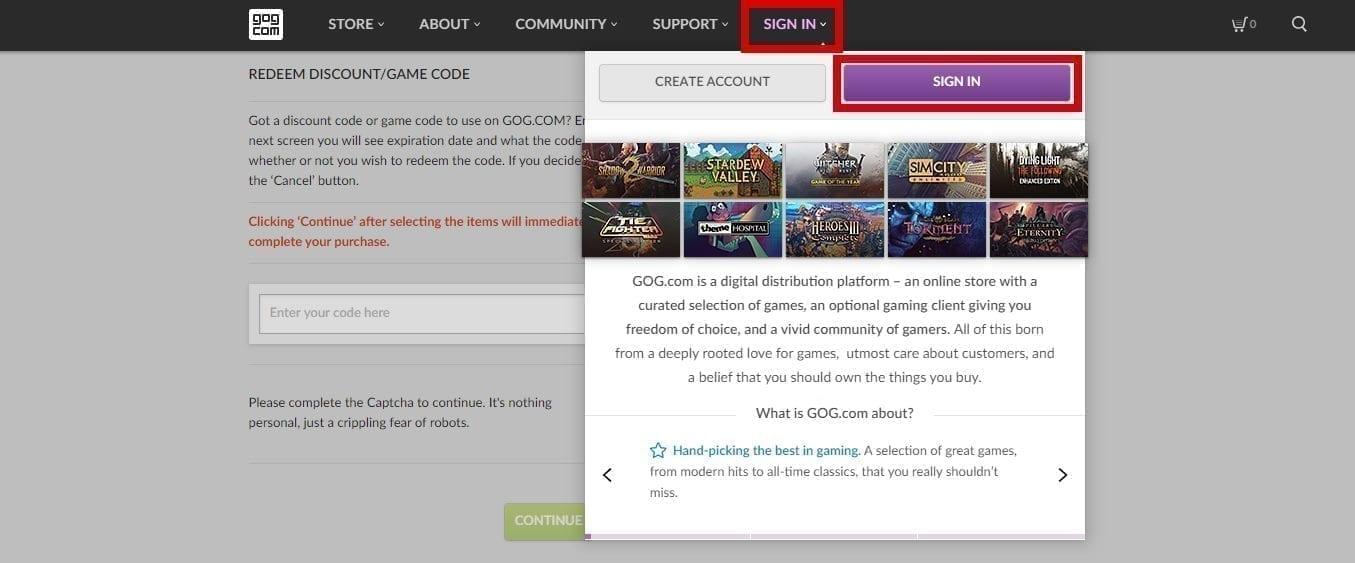 מדריך להתקנה והפעלת משחקים ב- GOG.COM